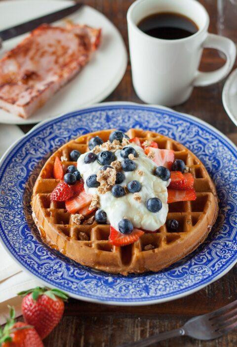 Foto de Waffle com cobertura